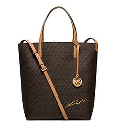 Signature Logo Large Convertible Tote  by Michael Kors
