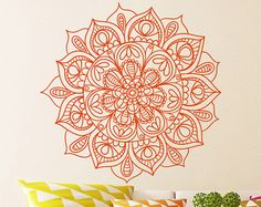 Bohemian Indian Pattern Mandala Wall Decals Floral by DecalHouse