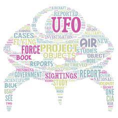 UFO word cloud art