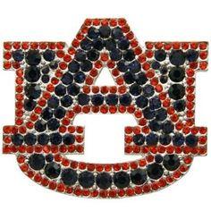 Auburn University Rhinestone Logo Pin available at End Zone Apparel