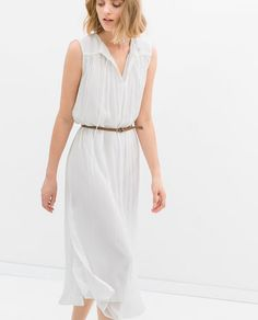 Image 2 of LONG DRESS WITH BELT from Zara