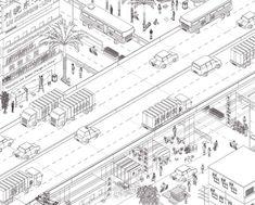 Map Office /// Unreal Estates of China Architecture Collage, Architecture Visualization, Architecture Drawings, Architecture Portfolio, School Architecture, Oblique Drawing, Isometric Drawing, Axonometric View, Axonometric Drawing