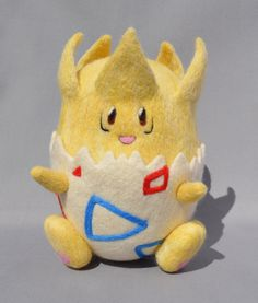 "Togepi, Nadel Filz 100 % handgemachte Pokemon Charakter. Maßnahmen: 6"" Länge x…"