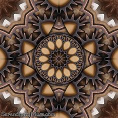 Day 38: Gears and Mirrors (Steampunk Kaleidoscope)