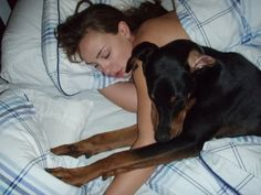 ...sleeping in your bed with you??? That's outrageous! Where's the dobie pillow?