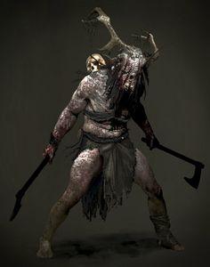 ArtStation - 'Revenant' from Hellblade: Senua's Sacrifice, Jeff Goslan Fantasy Character Design, Character Concept, Character Inspiration, Character Art, Concept Art, Fantasy Wizard, Fantasy Warrior, Dark Fantasy, Fantasy Art