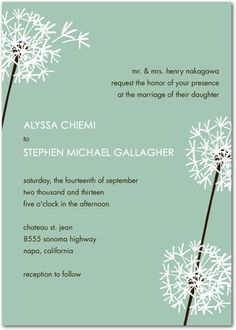 Love this type of invitation if we end up having a spring wedding :)