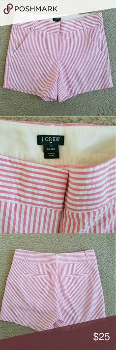 J. Crew City Fit Pin striped shorts Adorable pair of shorts! I love these for summer! Size 2, preloved but still in great condition :) J. Crew Shorts