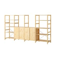 IVAR 4 sections with shelves IKEA Untreated solid pine is a durable natural material that can be painted, oiled or stained according to preference.