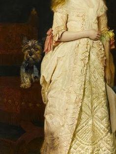 Google+ a portrait of Miss Rose Fenwick as a child. ( détail ). James Archer