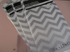 Plastic CHEVRON TABLE COVERS in Gray/Silver by partiesgalore
