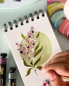 Watercolor Art Lessons, Watercolor Painting Techniques, Watercolor Paintings, Watercolor Journal, Watercolors, Small Canvas Art, Mini Canvas Art, Brush Pen Art, Watercolor Brush Pen