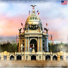 Paris World's Fair 1900 - U S Pavillion.