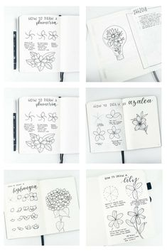How to draw easy, step-by-step flower doodles in your bullet journal! These gorgeous planner doodles will brighten up any planner or bujo and I cannot believe how easy it is to draw these! Awesome, simple, bullet journal art for everybody. #bulletjournal #bulletjournalart #flowerdoodles #diy #howtodraw
