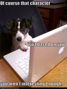 A rat terrier novelist... of course.