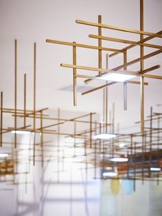 Since 1998 the Web Atlas of Contemporary Architecture Unique Lighting, Lighting Design, Interior Lighting, Home Lighting, Ceiling Lamp, Ceiling Lights, Light Grid, Incandescent Light Bulb, Shop Interiors