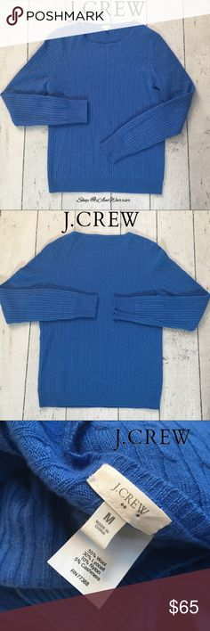 J. Crew mini cable knit wool/cashmere sweater Great crew neck J. Crew mini cable knit sweater in wool cashmere blend in pretty blue hue. Great condition, smoke free home. Measurements upon request. Please read my bio regarding closet policies prior to any inquiries. Bundle to  maximize your five shipping lb. fee! 🛍 J. Crew Sweaters Crew & Scoop Necks
