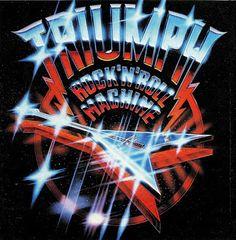 Triumph - 1977 Rock 'N' Roll Machine ( Triumph Band, Heavy Metal Art, New Retro Wave, Plakat Design, Metal Albums, Band Logos, Retro Art, Graphic Design Illustration, Graphic Design Inspiration