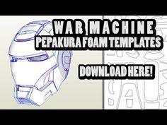 DOWNLOAD - WAR MACHINE Pepakura Foam Template Files