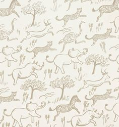 Perfect for a kid's room, from Rifle Paper Company. Safari (Taupe) Screen Printed