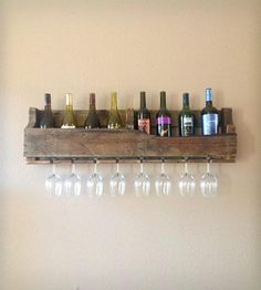 Large Reclaimed Wood Wine Rack - Dark