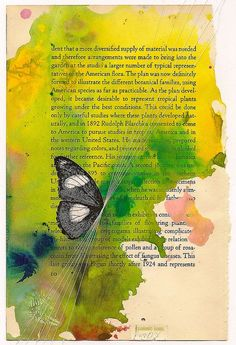love book pages as the canvas