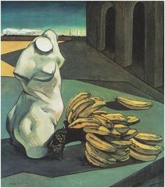 """The Uncertainty of the Poet"" by Giorgio de Chirico, 1913 inspiration to my A2 canvas painting final piece"