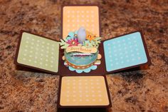 Happy Birthday Tealight Cake by kcherrie - Cards and Paper Crafts at Splitcoaststampers