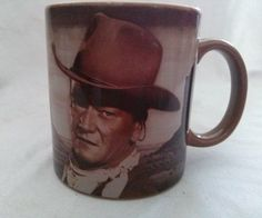 John Wayne Coffee Mug Vandor Ceramic Cup A Mans Got To Do What a Mans Got To Do