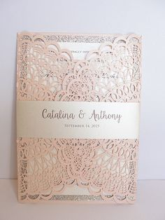 Vintage Wedding - The first thing that see your guests will see will be wedding invitations, so they must be expressive. We propose to consider vintage wedding invitations. Quinceanera Invitations, Laser Cut Wedding Invitations, Vintage Wedding Invitations, Wedding Invitation Wording, Wedding Stationery, Vintage Weddings, Invitation Ideas, Event Invitations, Invitations Online