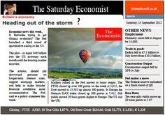 The Saturday Economist, is the UK heading out of the storm? Too soon to hoist the balloons!