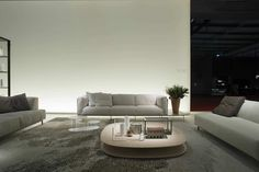 Contemporary coffee table / wooden / with storage compartment - STRATO by Victor Carrasco - Living Divani