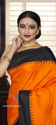 Handwoven Gadwal silk from Indiansilkhouse.com