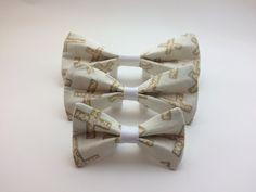 Pet Bow Tie - Gold Crosses - Over the Collar - Custom by HemptressDesigns on Etsy