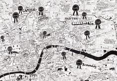 Super detailed hand-drawn map of London - Londonist