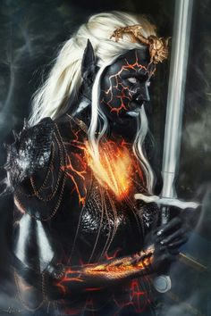 (Colours in the vain, spreading) eating colourful heart) Dark elf … Dark Fantasy, Fantasy Women, Fantasy Girl, Fantasy Creatures, Mythical Creatures, Dark Creatures, Character Portraits, Character Art, Elfen Fantasy