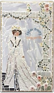 Lady in the garden mosaic