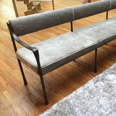 Image result for upholstered settee bench with back Bench With Back, Hallway Bench, Upholstered Bench, Entrance Hall, Settee, Dining Bench, Kitchens, Window, Space