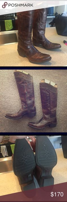 ARIAT BOOTS - make me an offer Never worn ARIAT BOOTS - brand new - chocolate brown Ariat Shoes Heeled Boots