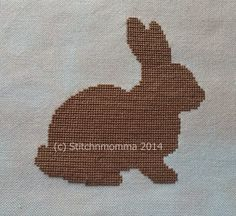 Rabbit Silhouette #CrossStitch pattern