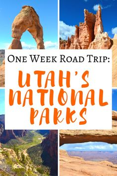 One Week Road Trip ITINERARY To ALL 5 of Utah's National Parks! >> fantastic itinerary and what to see in each one! Great Pin to save for later! | http://www.apassionandapassport.com