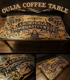 Holy #oujia table we are in LOVEEE!! Totally bummed this is not for sale, for the daring there are some instructions on how to #diy on intructables.com #dreamdecor #furnituregoals #ouijatable #ouijaboard