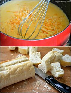 Craft Beer Cheese Fondue.. super easy and an excuse to get out the fondue pot.  GET IN MAH BELLY!!