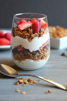 Granola + yogurt   19 High-Protein Breakfasts To Keep You Energized All Day Long