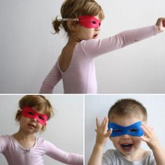 No sew - super hero mask ... I don't know how many times I have done this but it is a hit everytime!