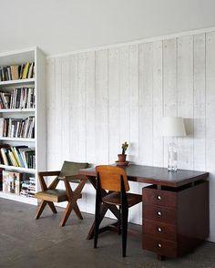 More white-washed wood paneling