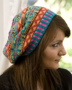 Summer Dragonfly Tam by Victoria Johnston - Fair Isle colors