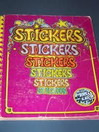 vintage 80's sticker album