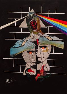 Omaggio ai Pink Floyd by RenatoTocco on DeviantArt Imagenes Pink Floyd, Eminem Poster, Abstract Art Tattoo, Pink Floyd Art, Richard Wright, Picture Tattoos, Michael Jackson, Empty, Spiderman
