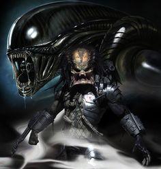 Aliens vs. Predator Alien Vs Predator 2004, Predator Alien, Predator Cosplay, Predator Series, Predator Helmet, Predator Movie, Alien Film, Alien Art, Alien Origin
